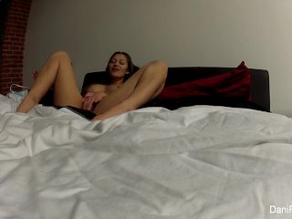 Super cute Dani plays with her fave vibrator