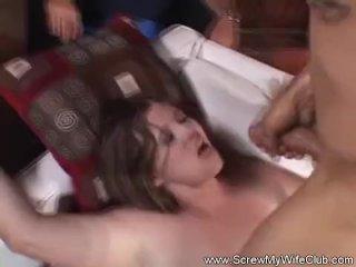 Brunette Amateur Tries Swingng