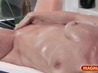 Blonde Milf Gets It Rough On The Massage Table