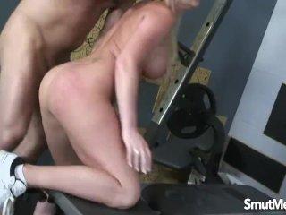 Super sexy blonde fucked hard