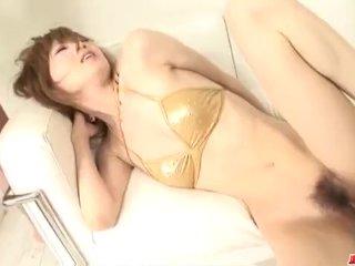 Special blowjob by naughty doll Rika Sakurai