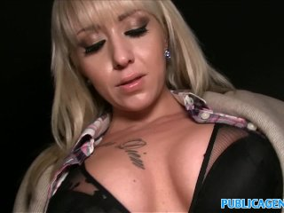 Public Agent Hot blonde fucked on dark public staircase