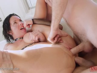 VERONICA AVLUV'S ASS IS DOUBLE FUCKED