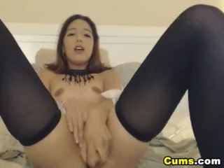 Young Model Gets Nude and Slutty