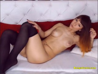 Sensual Redhead Teen Stripping And Fingering
