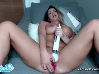 Brooklyn Chase big tits MILF fucking with multiple toys.