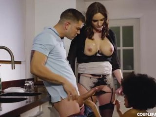 Cheating on his Wife with the Sexy Ebony Maid