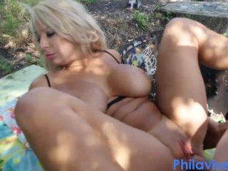 PHILAVISE- Almost caught public fucking with milf Alyssa Lynn