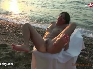 My Dirty Hobby - Nympho Gets Drilled On The Beach