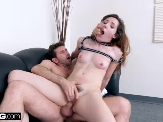 BANG Casting: Amateur White girl Ember Stone begs for the dick