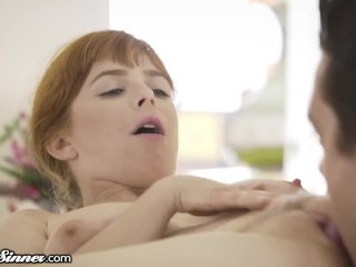 Cheating Redhead Wife Unleashes Lust with Masseur