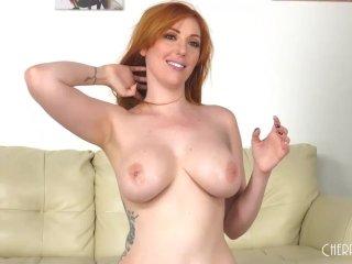 Lauren Phillips Is a Busty Fiery Red Head Who Loves Sex