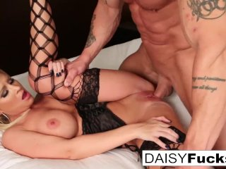 Daisy teases before taking a big cock