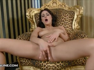 Dana Weyron Solo Finger Masturbation