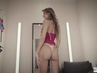 Hot Russian Melena Maria Bangs Her Ass With A Dildo