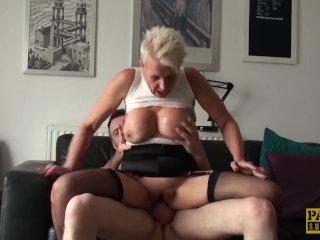 Mature subslut deepthroated and fucked
