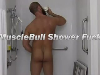 Topher and MuscleBull Raw Shower Fuck