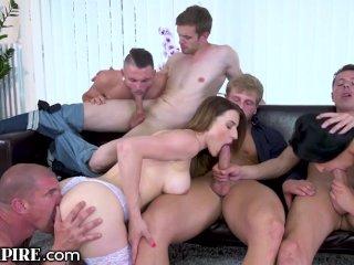 Biempire 5 Studs And 2 Chicks Buttfucking Bi-orgy