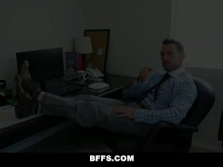 BFFS – Horny Interns Share Cock With Their Boss's