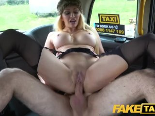 Busty blonde MILF Amber Jayne sucks and fucks big taxi cock