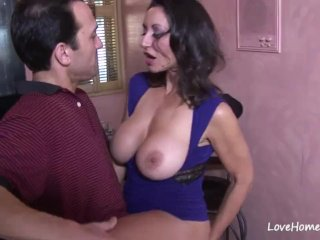 Pretty brunette sucked and rode his hard cock
