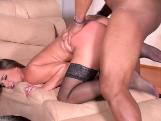 Standing Sex Anal Fucking With Black Big Dick Makes Amirah Cum Instantly