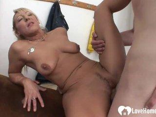 Blonde MILF gets some big hard dick