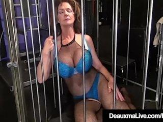 Deauxma Caged & Pleasured By Sally Dangelo & Nina Hartley!