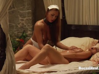 The Education of Adela: Chained Lesbian Slave Providing Sexual Pleasures
