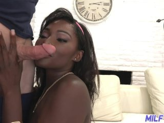 MILF Trip – Big white dick pounds thick sexy ass black MILF