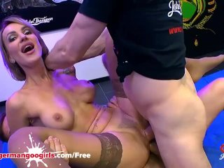 Super Hot Babe Elen Million Double Penetrated by Monster Cocks – German Goo