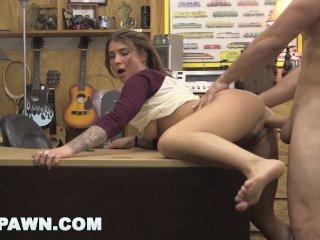 XXXPAWN – Felicity Feline Needs Money Quick, So She Goes To A Pawn Shop
