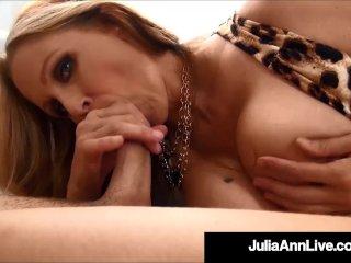 Beautiful Milf Julia Ann Sucks & Strokes A Stiff Dick POV!