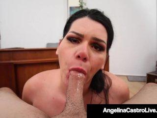 BBW Sex Therapist Angelina Castro Face Fucks A Cock!