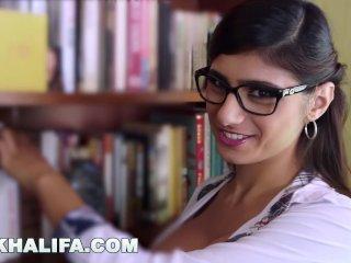 MIA KHALIFA – Arab Babe With Big Tits Fucks Tony Rubino In Library