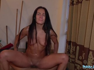 Public Agent Multiple orgasms as tight wet warm pussy drains agents balls