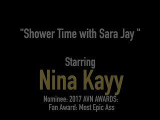 Gay? No WAY! Nina Kayy Finger Bangs PAWG Milf Sara Jay!