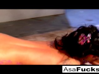 Asa Akira takes the big black dick again