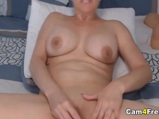 Busty Blonde Loves to Play Her Hole