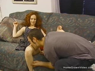 Skinny redhead amateur is ready to be filled up