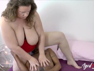 AgedLovE Big Black Cock in Busty Mature Pussy