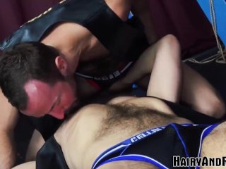 HAIRYANDRAW Alex Hawk Blows Cock Before Jocks Fucks His Hole