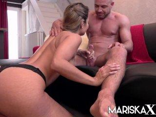MARISKAX Stunning big tit blonde Sacha loves creampies