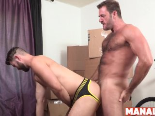 MANALIZED Bubble Butt Conrad Logan Slammed Raw By Buff Daddy