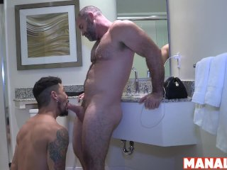 MANALIZED Daddy Angus Bishop Cums Inside Muscular Bottom