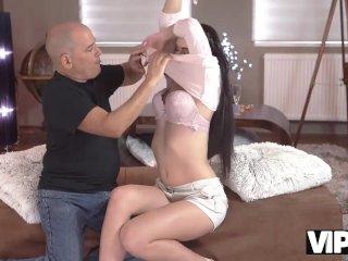VIP4K. Sweet lassie and her older fucker spend wonderful time