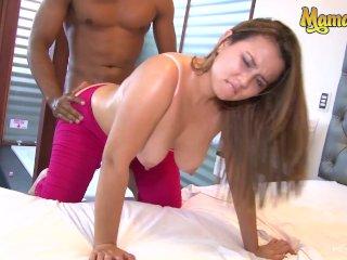 MAMACITAZ – Big Booty Brunette Colombian Angela Rodriguez Fucks Horny Guy
