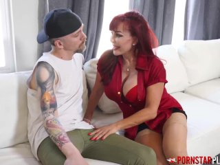 PORNSTARPLATINUM Latina MILF Sexy Vanessa Fucks Big Cock