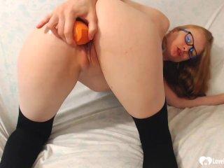 Kinky stepmom in knee socks pleasures herself
