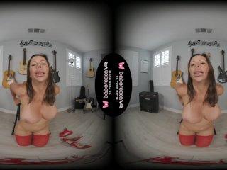 Solo brunette milf, Alexis Fawx is masturbating, in VR